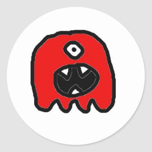 Hungry Monster Stickers