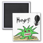 Hungry? Monster with spider. Refrigerator Magnets