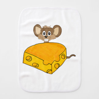 Hungry mouse baby burp cloth