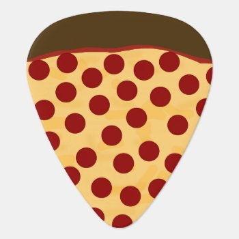 Hungry Musician Pepperoni Pizza Guitar Pick by FirstFruitsDesigns at Zazzle