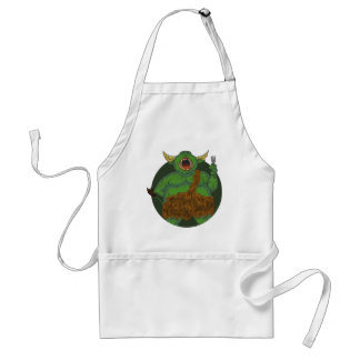 Hungry Orc with a Fork Adult Apron