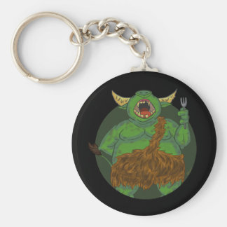 Hungry Orc With A Fork Keychain