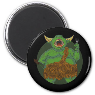 Hungry Orc With A Fork Magnet Refrigerator Magnet