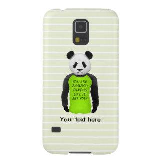 Hungry Panda Wearing A Funny Tshirt Galaxy S5 Case