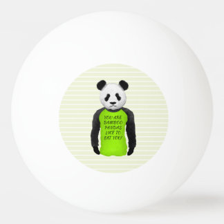 Hungry Panda Wearing A Funny Tshirt Ping-Pong Ball