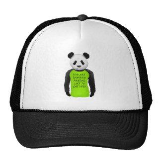 Hungry Panda Wearing A Funny Tshirt Trucker Hat