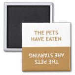 Hungry Pets 2 Inch Square Magnet