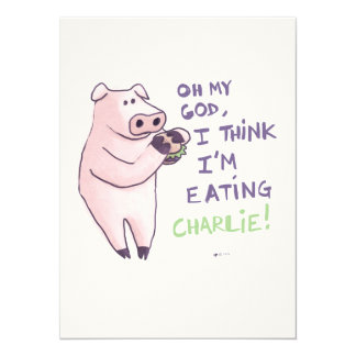 Hungry Pig 5.5x7.5 Paper Invitation Card