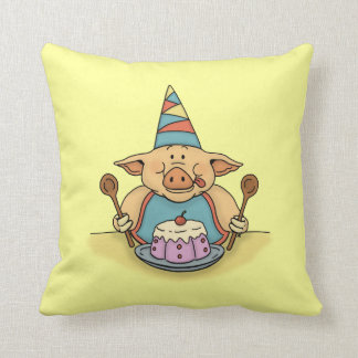 hungry piggy funny pillow