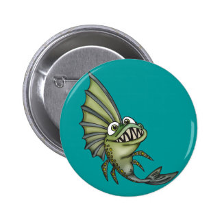 Hungry Piranha Fish Buttons