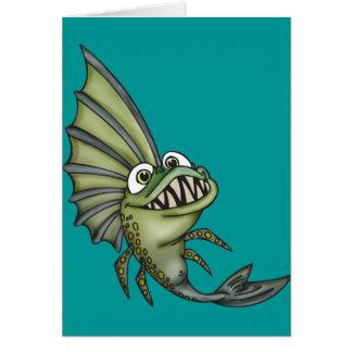 Hungry Piranha Fish Card