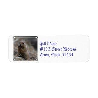 Hungry Prairie Dog Return Address Label