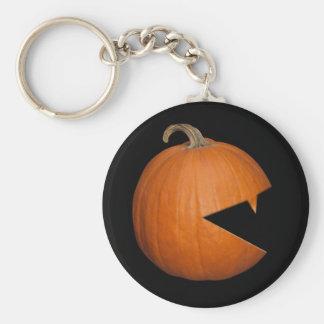 Hungry Pumpkin Basic Round Button Keychain