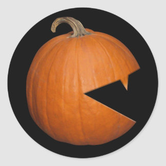 Hungry Pumpkin Classic Round Sticker