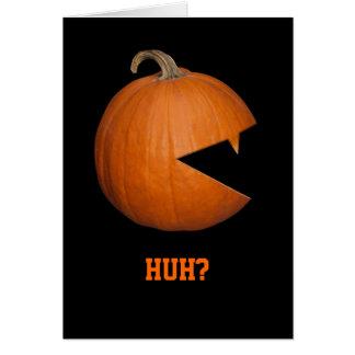 Hungry Pumpkin Greeting Card