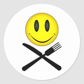 Hungry Smiley Classic Round Sticker