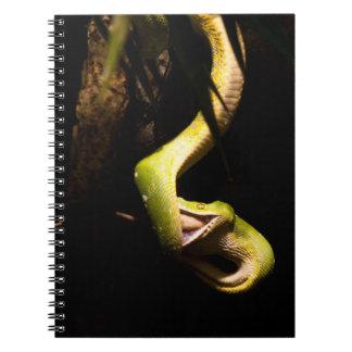 Hungry snake spiral notebook