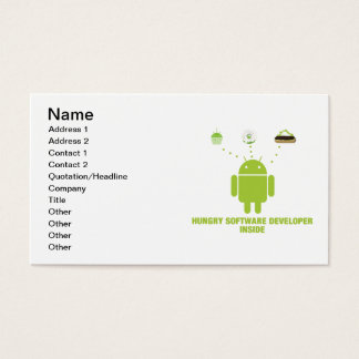 Hungry Software Developer Inside (Android) Business Card