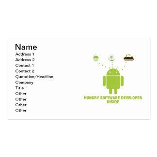 Hungry Software Developer Inside Android Business Card Templates