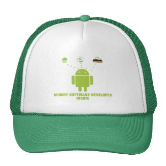 Hungry Software Developer Inside (Android) Mesh Hat