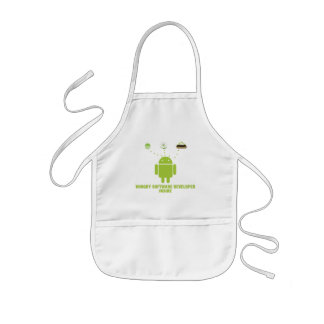 Hungry Software Developer Inside (Android) Kids' Apron