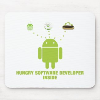 Hungry Software Developer Inside (Android) Mousepads