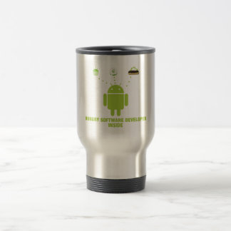 Hungry Software Developer Inside (Android) Coffee Mugs