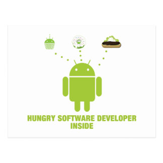 Hungry Software Developer Inside Android Post Cards