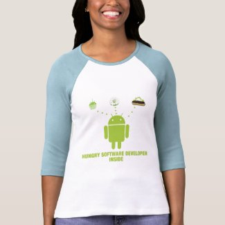 Hungry Software Developer Inside (Android) T Shirt