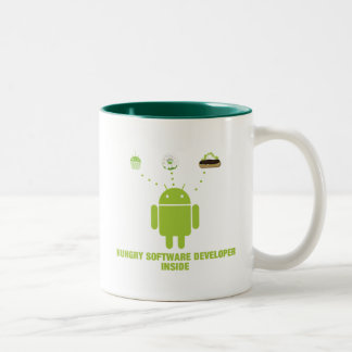 Hungry Software Developer Inside (Android) Two-Tone Coffee Mug