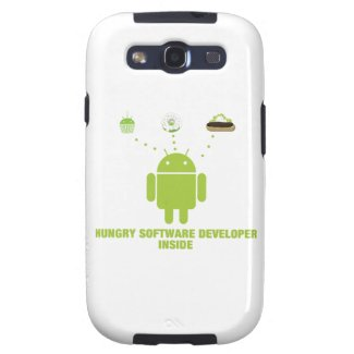 Hungry Software Developer Inside (Bug Droid) Samsung Galaxy SIII Covers