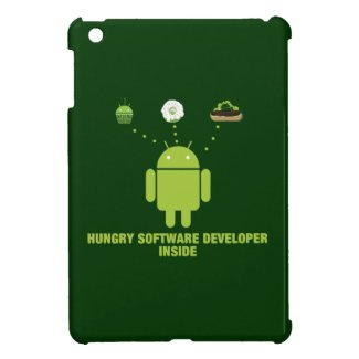Hungry Software Developer Inside (Bug Droid) iPad Mini Cases