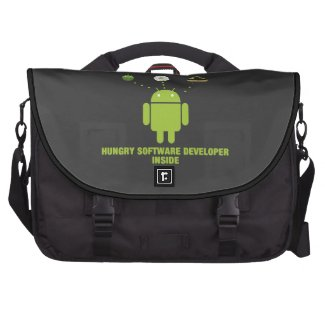 Hungry Software Developer Inside (Bug Droid) Computer Bag