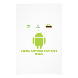 Hungry Software Developer Inside (Bug Droid) Stationery