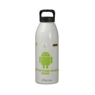 Hungry Software Developer Inside (Bug Droid) Water Bottle
