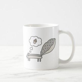 Hungry Squirrel Classic White Coffee Mug