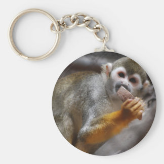 Hungry Squirrel Monkey Keychain