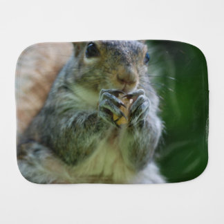 Hungry Squirrel Baby Burp Cloth