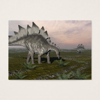 Hungry stegosaurus - 3D render Business Card