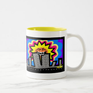 Hungry sun Two-Tone coffee mug