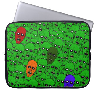Hungry Undead Zombie Heads Laptop Sleeve