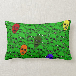 Hungry Undead Zombie Heads Lumbar Pillow