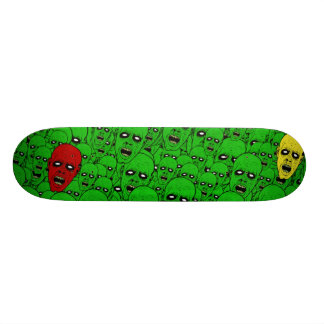 Hungry Undead Zombie Heads Skateboard Deck
