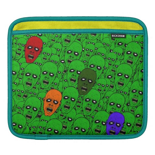 Hungry Undead Zombie Heads Sleeve For iPads