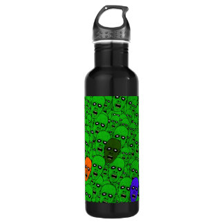 Hungry Undead Zombie Heads Water Bottle
