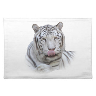 Hungry White Tiger Placemats