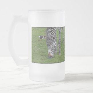 Hungry Zebra Frosted Beer Mug