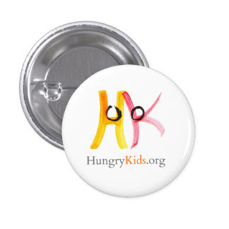 HungryKids..org buton 1 Inch Round Button