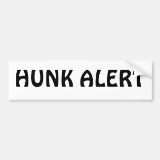 HUNK ALERT BUMPER STICKER
