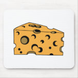 Hunk of Swiss Cheese Mouse Pad